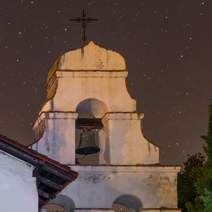 San Juan Bautista Mission at night