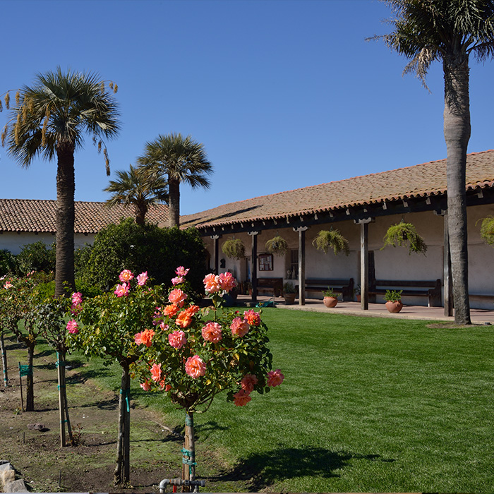 Soledad Mission courtyard